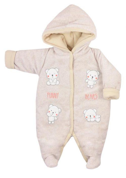 Pajac ocieplany dla niemowląt Funny Bears Koala Baby Rozmiar 68 kolor Beżowy