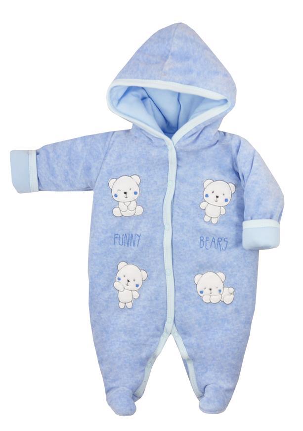Pajac ocieplany dla niemowląt Funny Bears Koala Baby Rozmiar 68 kolor Niebieski