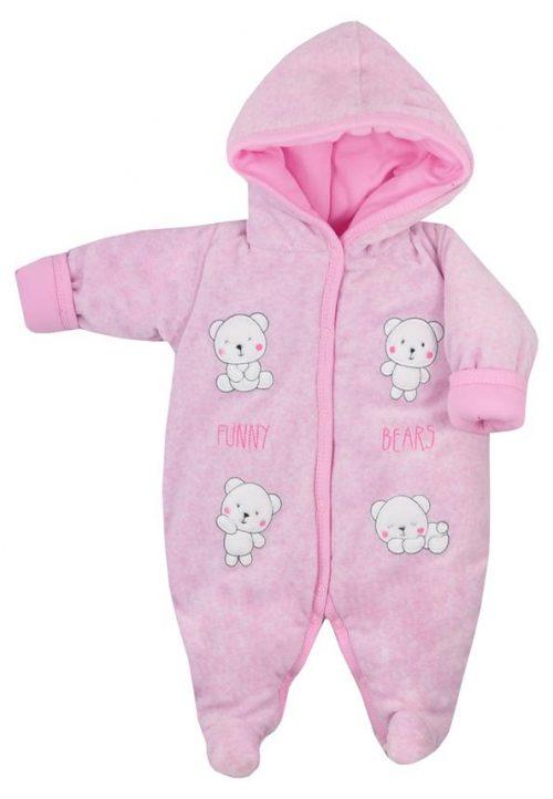 Pajac ocieplany dla niemowląt Funny Bears Koala Baby Rozmiar 68 kolor Różowy