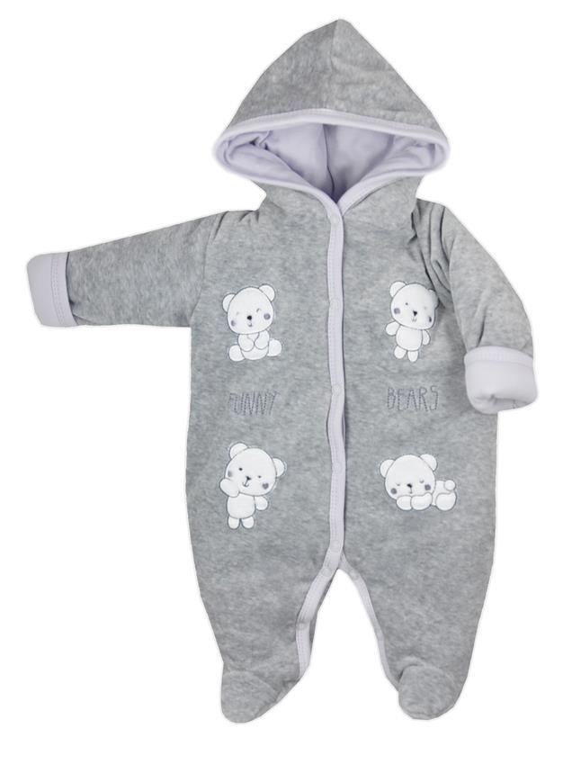 Pajac ocieplany dla niemowląt Funny Bears Koala Baby Rozmiar 62 kolor Szary