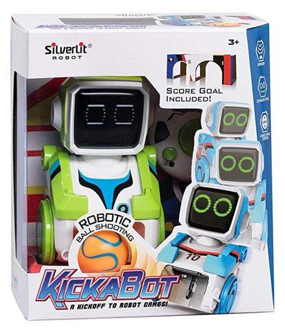 Roboty sterowane pilotem strzela piłka do bramki Zielony Silverlit S88548