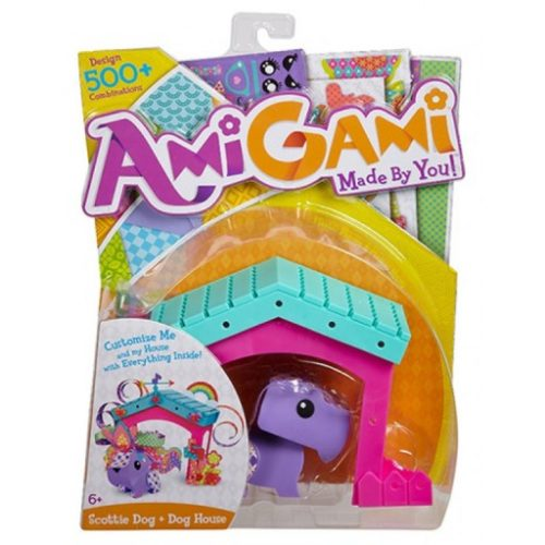 Zestaw Amigami zwierzątko z domkiem zestaw do prac manualnych dla dzieci Origami Piesek