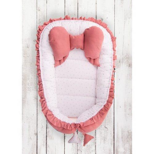 Kokon niemowlęcy z poduszką motylek Belisima Skrzydełka różowe