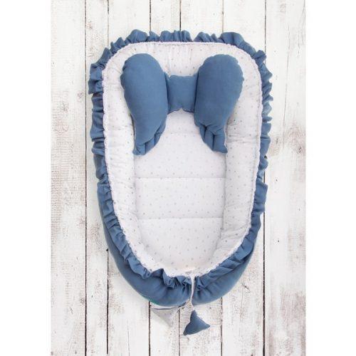 Kokon niemowlęcy Belisima skrzydełka niebieskie + poduszka motylek