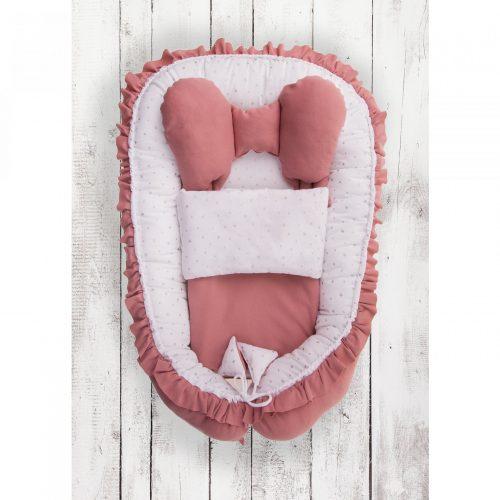 Kokon niemowlęcy z kołderką Skrzydełka różowe Belisima