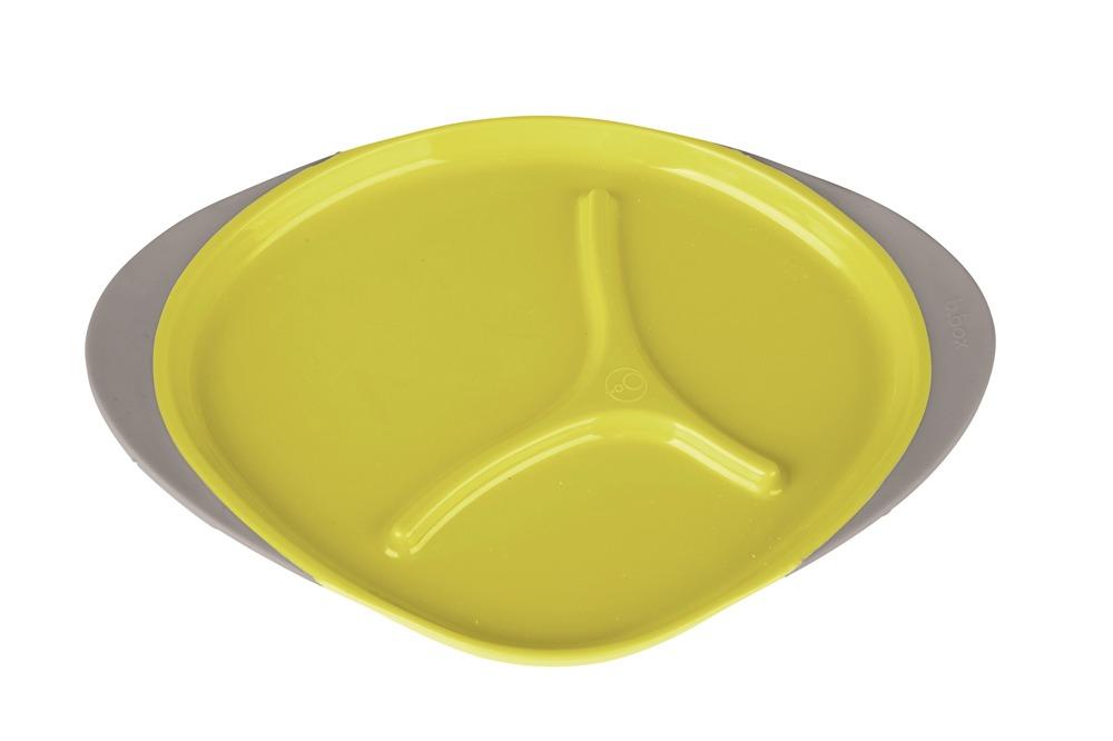 Trójdzielny talerzyk dla dziecka B.Box lemon