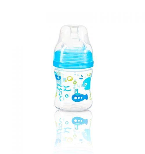 BabyOno Butelka do karmienia szeroka 120ml Niebieski