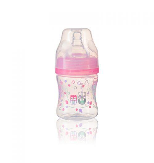 BabyOno Butelka do karmienia szeroka 120ml kolor Różowy