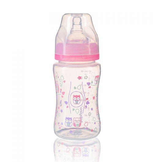 BabyOno Butelka szeroka 240 ml kolor Różowy