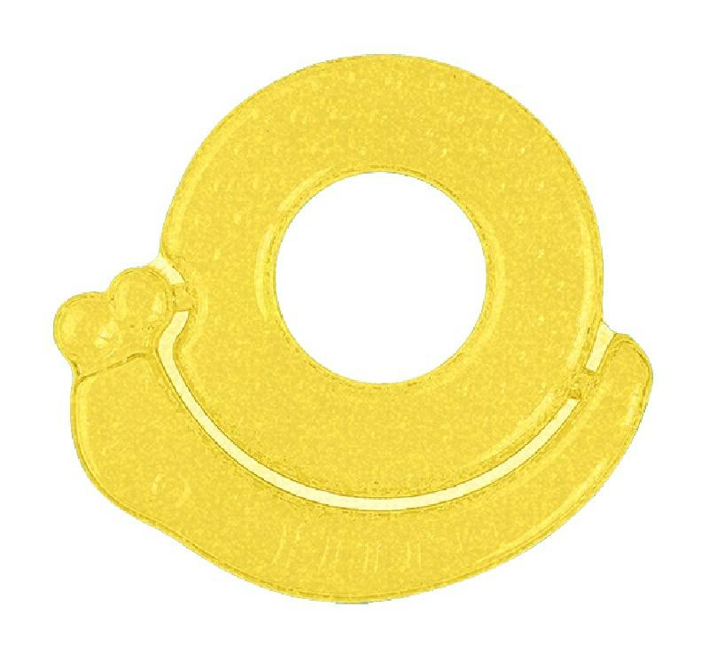 Chłodzący gryzak żelowy Ślimak BabyOno 3m+ Żółty