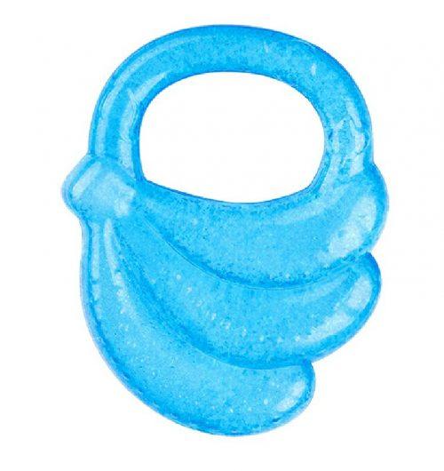 Gryzak żelowy chłodzący Banan dla dzieci w czasie ząbkowania BabyOno 3m+ Niebieski