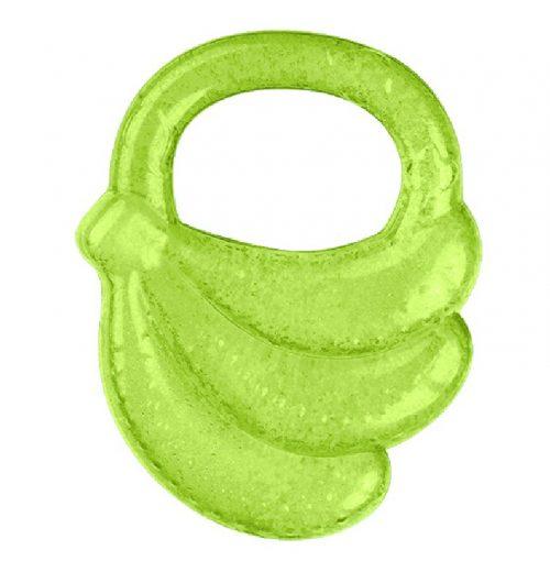 Gryzak żelowy chłodzący Banan dla dzieci w czasie ząbkowania BabyOno 3m+ Zielony