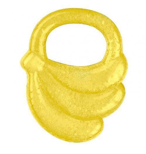 Gryzak żelowy chłodzący Banan dla dzieci w czasie ząbkowania BabyOno 3m+ Żółty