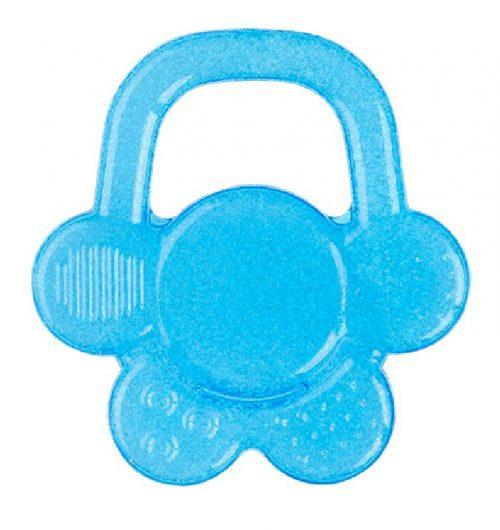 Gryzaki BabyOno gryzak z chłodzącym żelem na ząbkowanie mały kwiatek 3m+ Niebieski