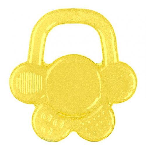 Gryzaki BabyOno gryzak z chłodzącym żelem na ząbkowanie mały kwiatek 3m+ Żółty
