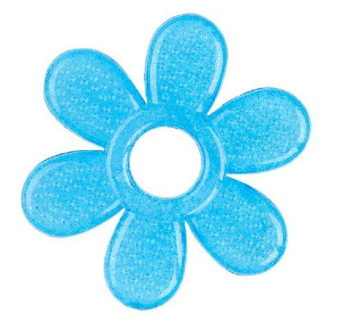 BabyOno Żelowy gryzaczek kwiatek 8x8 cm gryzak Niebieski