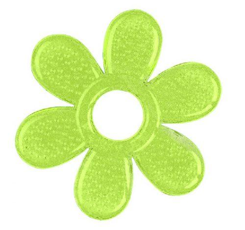 BabyOno Żelowy gryzaczek kwiatek 8x8 cm gryzak Zielony