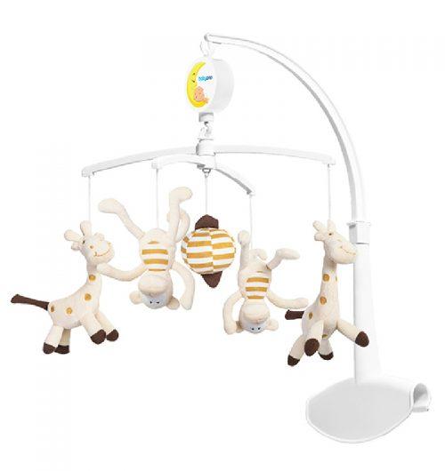 Karuzela uniwersalna do łóżeczek dziecięcych i turystycznych BabyOno - żyrafki i małpki