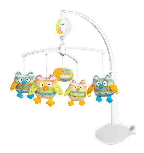Karuzela uniwersalna do łóżeczka dziecięcego BabyOno - sowy