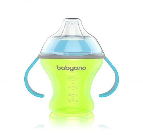 BabyOno Kubek niekapek 180 ml z twardym ustnikiem Zielony