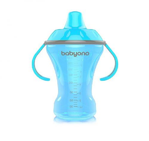 BabyOno Kubek niekapek 260 ml z twardym ustnikiem Niebieski