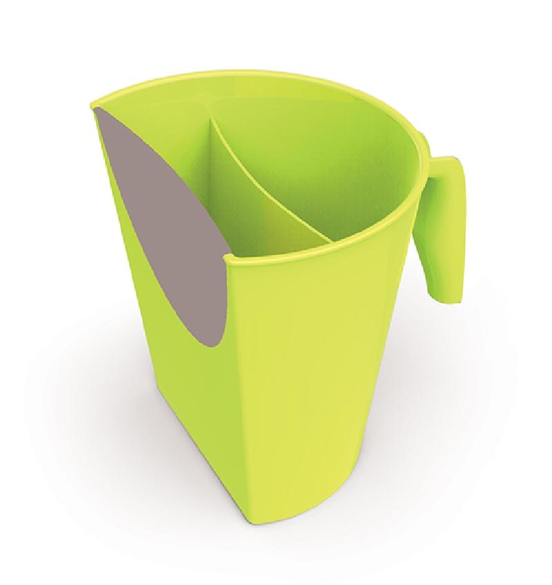 Praktyczny kubek do mycia głowy BabyOno Zielony spłukiwanie głowy