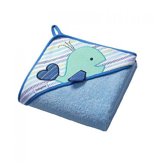 Okrycie kąpielowe frotte 76x76 frotte  BabyOno Niebieski