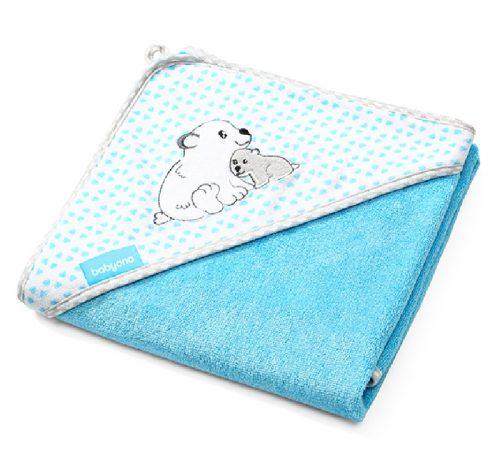 Ręcznik kąpielowy bambusowy 76x76, Babyono niebieski