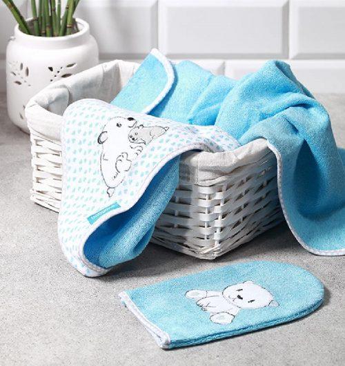 Ręcznik kąpielowy bambusowy 76x76, Babyono różowy