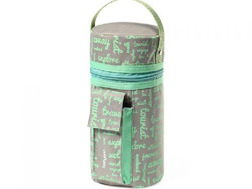 Samochodowy podgrzewacz do butelek z funkcją termoopakowania BabyOno zielony