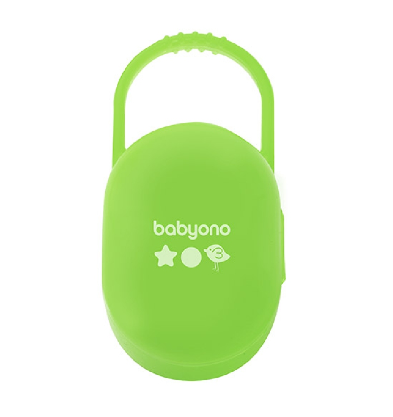 Praktyczny pojemnik na smoczki BabyOno Zielony