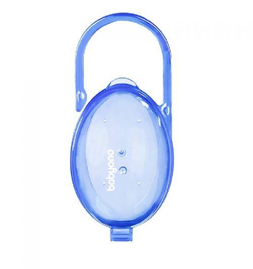 Dwukolorowy praktyczny pojemnik na smoczek BabyOno Niebieski