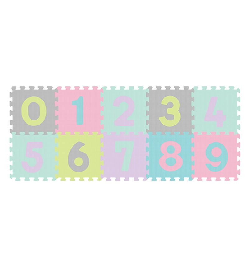 Puzzle piankowe BabyOno Cyfry 10 szt.