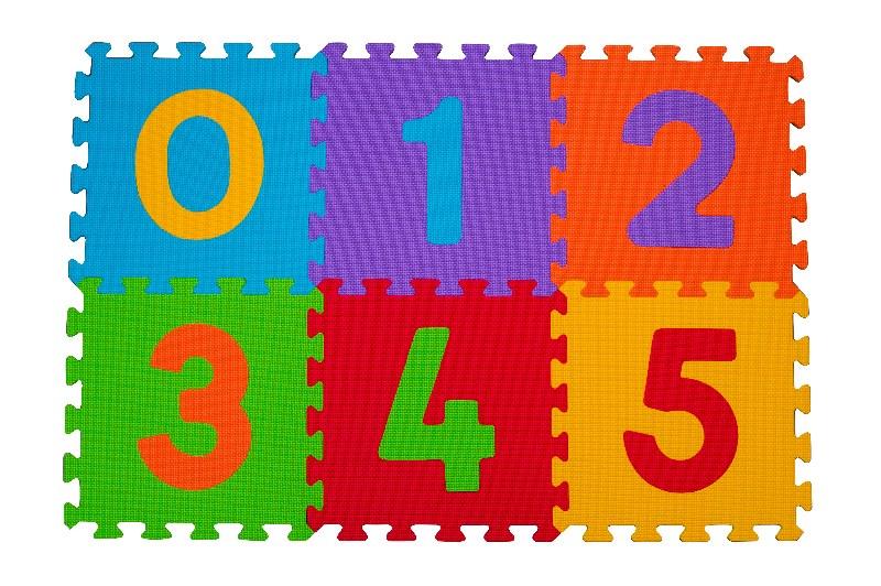 Bezpieczne piankowe puzzle BabyOno Cyfry 6 szt.