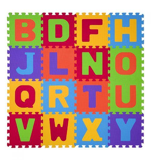 Puzzle piankowe Literki 16 sztuk, BabyOno