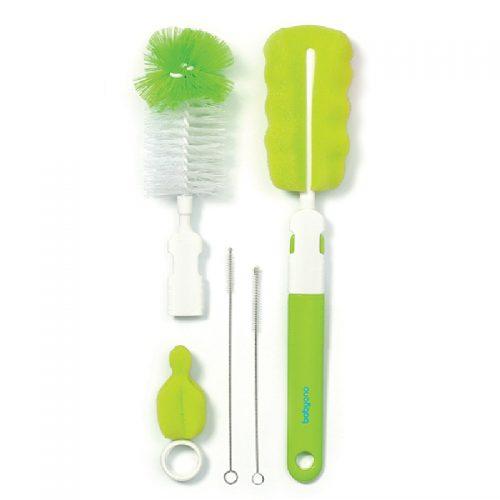 Zestaw szczotek do butelek i smoczków BabyOno zielony