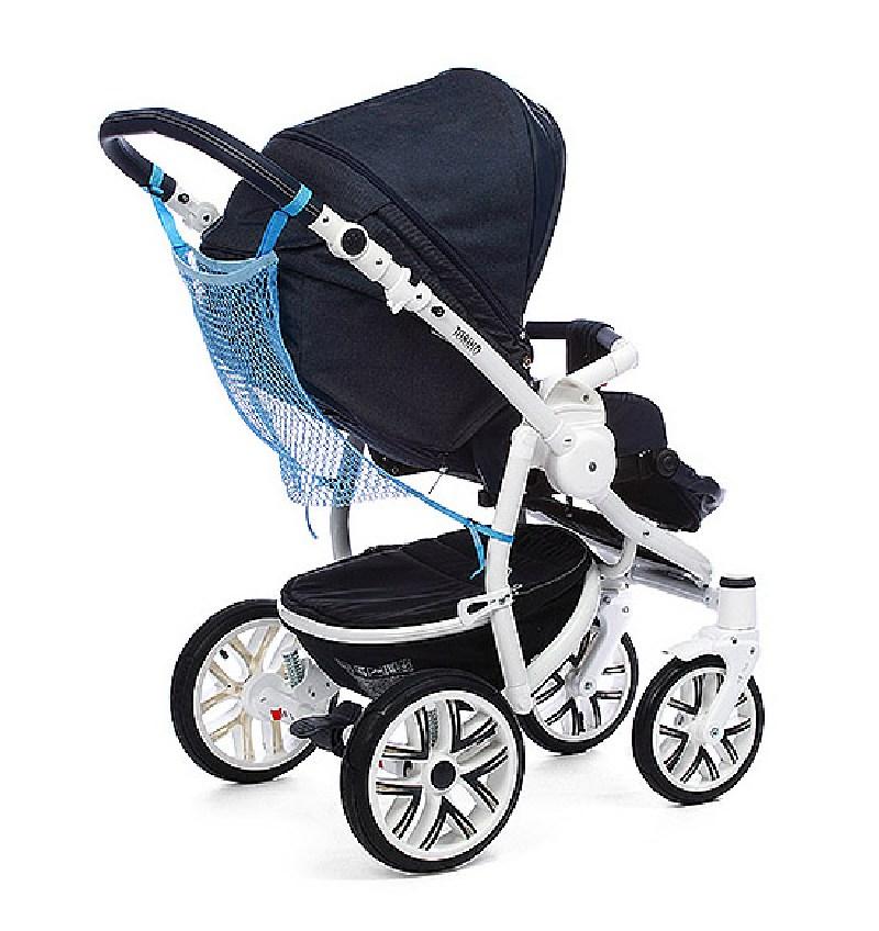 Praktyczna siatka na zakupy do zamocowania na wózku BabyOno Czerwony