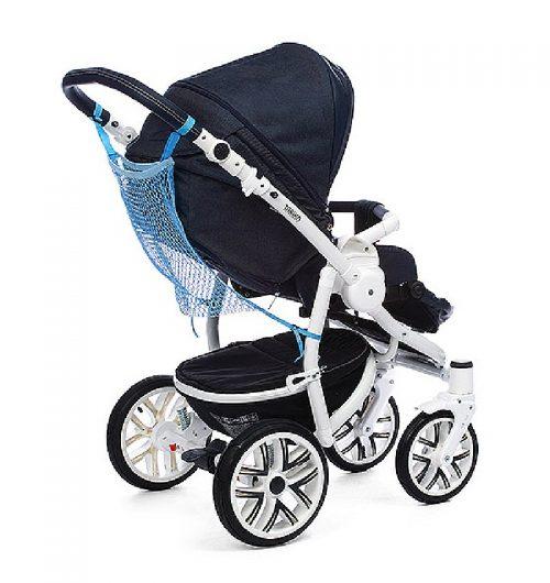 Praktyczna siatka na zakupy do zamocowania na wózku BabyOno Zielony