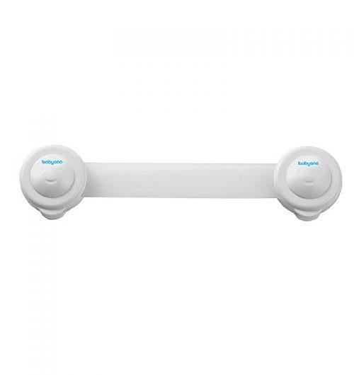Uniwersalne zabezpieczenie przed otwarciem szuflad lodówek szafek toalety BabyOno 2szt. Biały