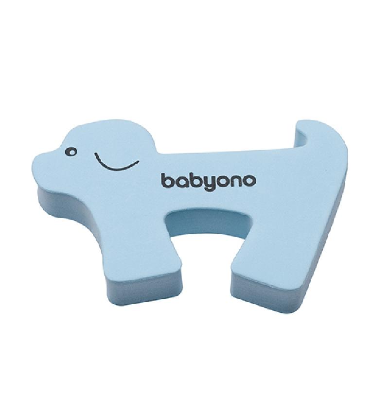 Blokada drzwi zwierzątka zabezpieczenie BabyOno niebieski Piesek