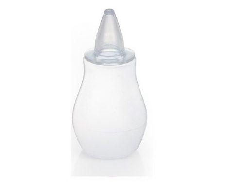 Bezpieczny aspirator dla niemowląt gruszka do nosa BabyOno kolor Biały