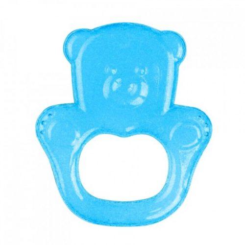 Gryzak z żelem chłodzącym BabyOno - Miś 3m+ Niebieski