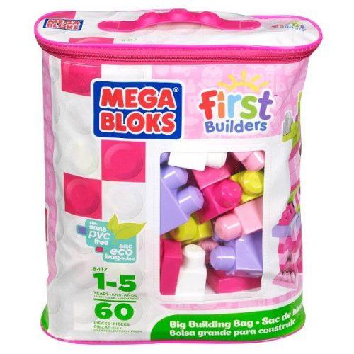 Duża toba klocków Fisher Price Mega BLoks  60 elementów Dziewczynka