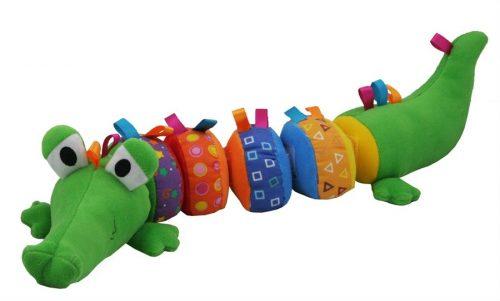 Zabawka edukacyjna krokodyl na rzep