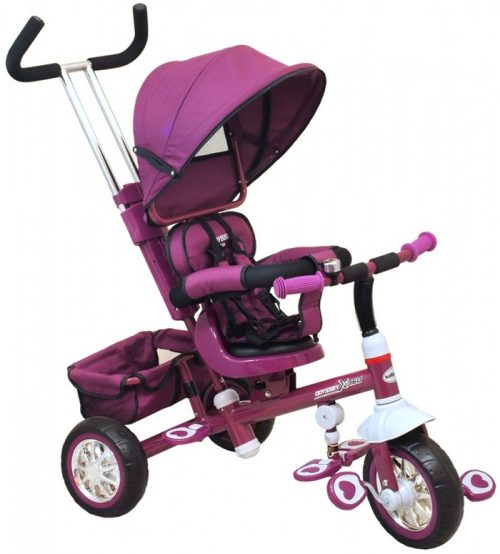 Baby Mix  rowerek trójkołowy z pchaczem ODYSSEY Fioletowy