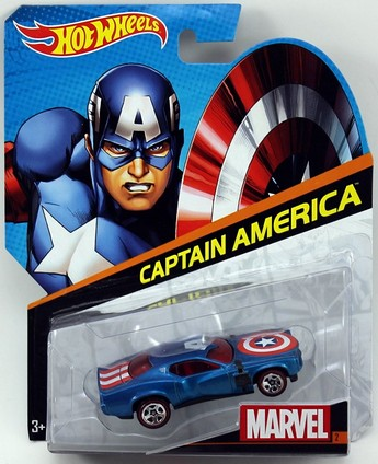 Hot Wheels samochodziki Marvel resoraki Capitan America BDM71
