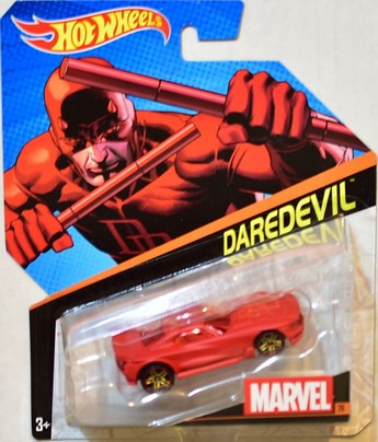 Hot Wheels samochodziki Marvel resoraki Daredevil BDM71