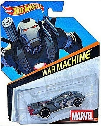 Hot Wheels samochodziki Marvel resoraki War Machine BDM71