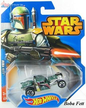 Samochodziki bohaterowie Star Wars Hot Wheels Boba Fett CGW35