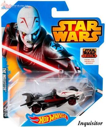 Samochodziki bohaterowie Star Wars Hot Wheels The Inquisitor CGW35